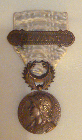 Franco-Syrian War - Award to French veterans - the Cilicia Levant medal law 18 July 1922