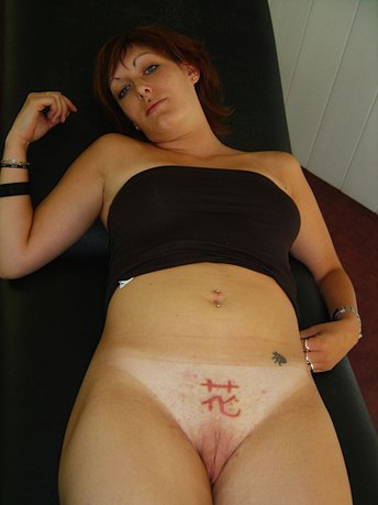 Body Mod Slave Porn - Contemporary, western women with clitoral hood piercing and genital  tattooing (left) and Hanabira (right)