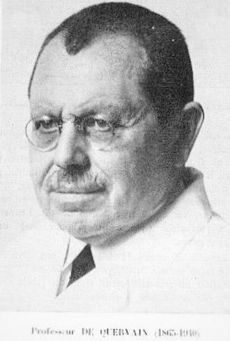 Fritz de Quervain - Dr. Fritz de Quervain