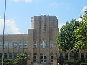 Ruston High School - Front entrance to Ruston High School (2010)
