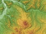 Futamata Volcano Relief Map, SRTM-1.jpg