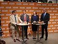 Göran Hägglund, Jan Björklund, Annie Lööf och Fredrik Reinfeldt, 2013-09-09 05.jpg