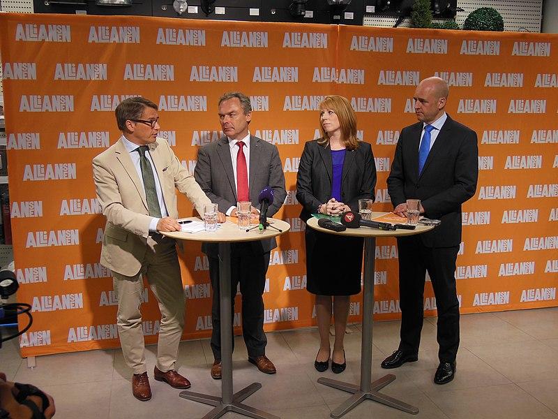 File:Göran Hägglund, Jan Björklund, Annie Lööf och Fredrik Reinfeldt, 2013-09-09 05.jpg