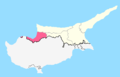 Güzelyurt District Map.png