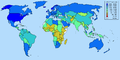 GDP PPP per capita world map IMF figures for year 2006.png