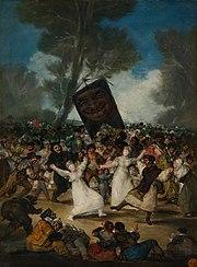 Francisco Goya: The Burial of the Sardine