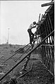 G Nagarajan Climbing Down - Concrete Roofing In Progress - Science City Site Office - Dhapa - Calcutta 1993-October 714.JPG