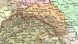 Germanlingva mapo de Galicio (1836)