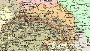 History of Galicia (Eastern Europe) - Map of Galicia in 1836