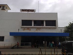 Gandhidham Junction railway station - Image: Gandhidham Junction main entrance