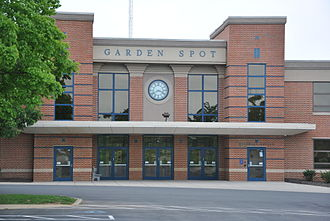 Eastern Lancaster County School District - The main entrance to Garden Spot High School and Garden Spot Middle School