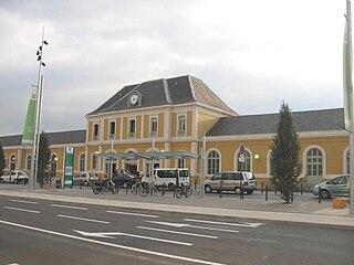 railway station in Roanne, France