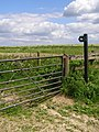 Gate and bridleway to Clearbury Down - geograph.org.uk - 177567.jpg
