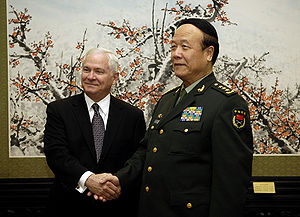Guo Boxiong - Guo Boxiong met U.S. Defense Secretary Robert Gates in 2007.