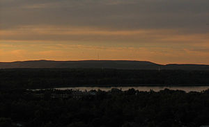 Gatineau Hills - Gatineau Hills across Ottawa west end and Ottawa river