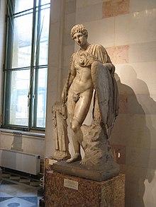 Ganimede e l'aquila, copia romana del II secolo, conservata all'Ermitage.