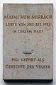 Gedenktafel Alleestr 10 (Potsdam) Maimi von Mirbach.jpg