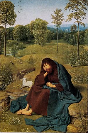 Geertgen tot Sint Jans - Geertgen's painting John the Baptist in the Wilderness