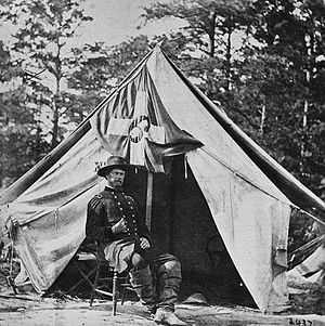 Horatio Wright - General Wright in front of his tent.