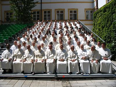 The group photo at the 2006 general chapter of the Premonstratensians. GeneraalKapittel2006.jpg