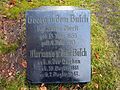 Georg von dem Busch 1855-1913, königlich sächsischer Oberst, Marianne von der Decken 1861-1947, Grabmal Kirchhof St. Ludwig in Celle.jpg