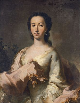 1750 in art - Image: George Desmarées Portrait of Maria Rosa Walburga von Soyer WGA14057