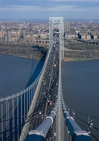 Washington Heights, Manhattan - Image: George Washington Bridge, HAER NY 129 68