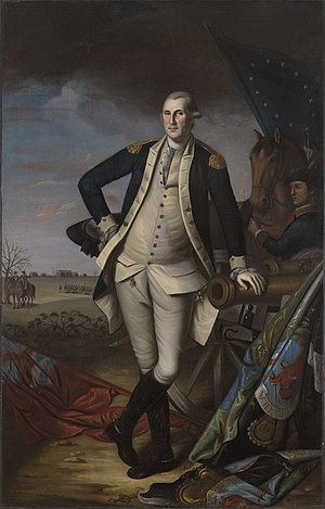 Charles Willson Peale - George Washington at the Battle of Princeton, 1781. Yale University Art Gallery