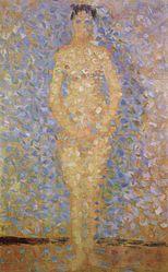 Georges Seurat: Poseuse debout, de face, étude pour Les Poseuses
