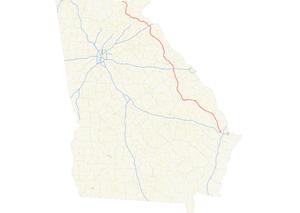 Georgia State Route 17 - Image: Georgia state route 17 map