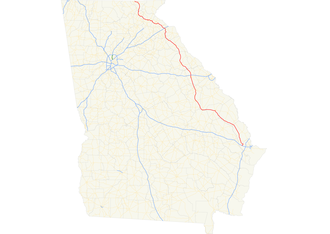 Georgia State Route 17 - Image: Georgia state route 17 map