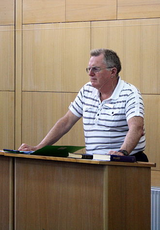 Gerald Bray - Gerald Bray lecturing on the history of Biblical Interpretation at the Presbyterian Theological College