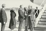 Gerald Ford deplaning at Patrick Henry Airport before third debate 3.jpg