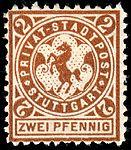 Germany Stuttgart 1890-99 local stamp 2pf - 12a unused.jpg