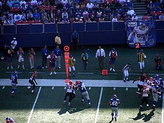 2008 New York Giants season - The Cincinnati Bengals visit Giants Stadium, September 21