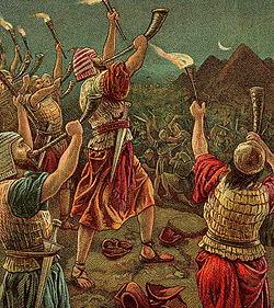 Gideon and His Three Hundred (Bible Card).jpg