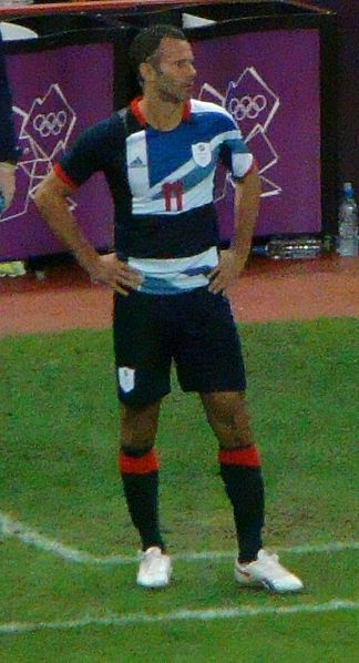Ryan Giggs, captain of Team GB 4 August 2012; image Jon Candy