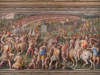 The storming of the fortress of Stampace in Pisa