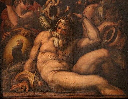 Giorgio vasari e aiuti, allegoria del chianti, 1563-65, 04