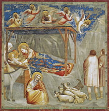 Nativity, by Giotto di Bondone from the Scrovegni Chapel