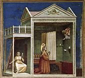Giotto di Bondone - No. 3 Scenes from the Life of Joachim - 3. Annunciation to St Anne - WGA09171.jpg