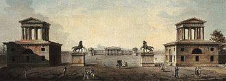 Giovanni Antonio Antolini - Plans for the Foro Buonaparte in Milan (city side)