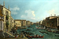 Giovanni Antonio Canal, il Canaletto - Regatta on the Canale Grande - WGA03904.jpg