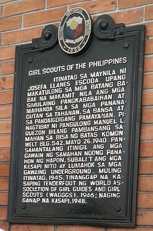 Girl Scouts of the Philippines - Historical marker