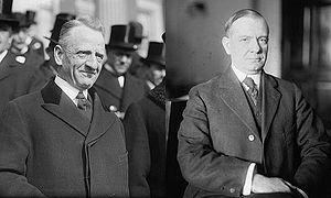 Glass–Steagall legislation - Sen. Carter Glass (D–Va.) and Rep. Henry B. Steagall (D–Ala.-3), the co-sponsors of the Glass–Steagall Act.