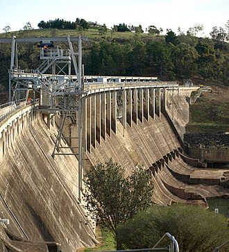 Glenmaggie Dam - Downstream face.