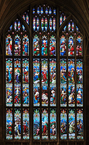 William Wailes - The huge west window at Gloucester Cathedral