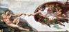 Gud skaber Adam, af Michelangelo