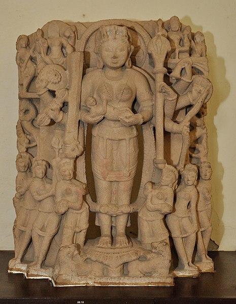 File:Goddess Ambika - Mediaeval Period - Rataul - ACCN 88-16 - Government Museum - Mathura 2013-02-23 5193.JPG