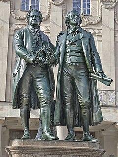 <i>Goethe–Schiller Monument</i> sculpture